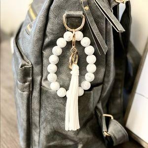NEW Lani Silicone Key Chain~White Marble